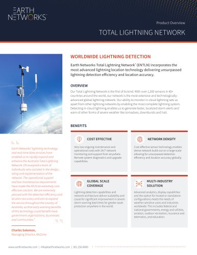 WORLDWIDE LIGHTNING DETECTION