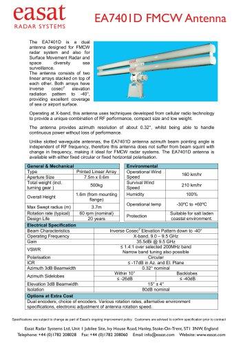 EA7401D FMCW Antenna