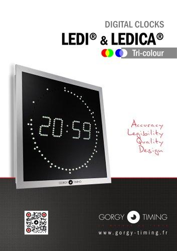 DIGITAL CLOCKS LEDI® & LEDICA®