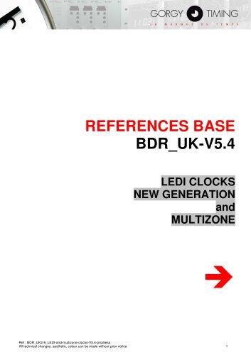 Digital clocks LEDI® - references base
