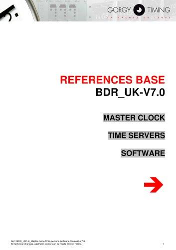 Master clock, time server, software - references base