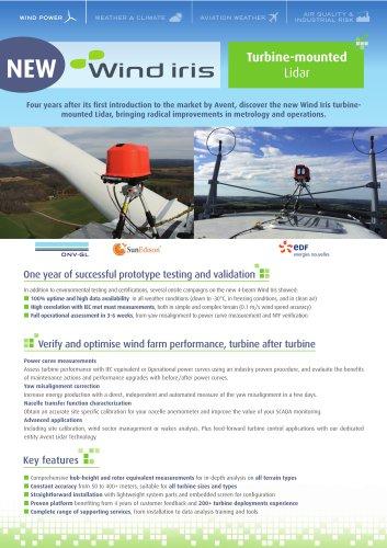 Brochure Wind Iris Turbine-mounted Lidar