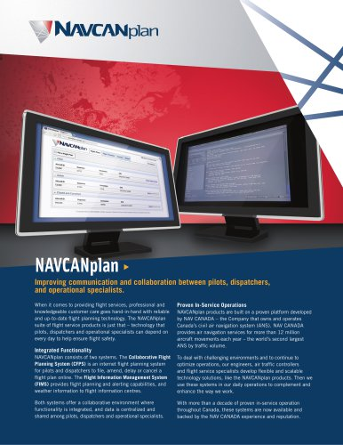 NAVCANplan Feature