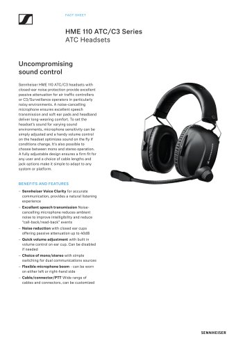 HME 110 ATC/C3 Series ATC Headsets