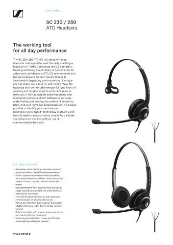 SC 230 / 260 ATC Headsets