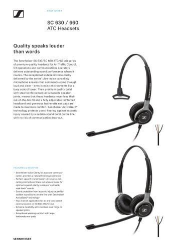 SC 630 / 660 ATC Headsets
