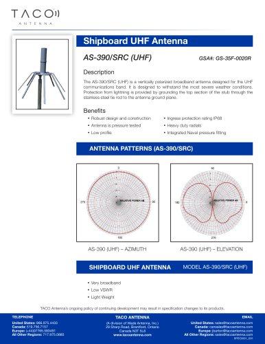 AS-390/SRC (UHF) Coaxial Stub Shipboard Antenna