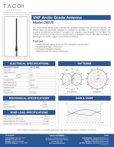 D8076 VHF Arctic Grade Antenna