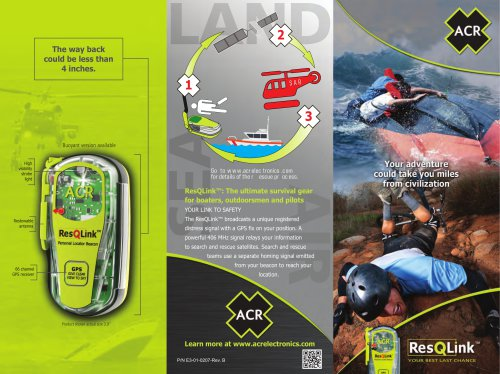 ResQLink™: The ultimate survival gear for boaters, outdoorsmen and pilots