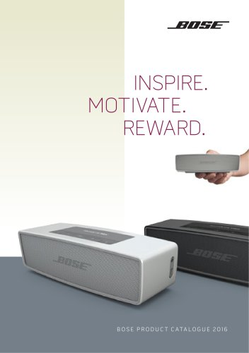 BOSE PRODUCT CATALOGUE 2016