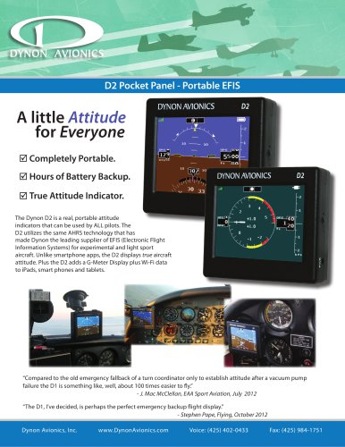 D2 Pocket Panel - Portable EFIS