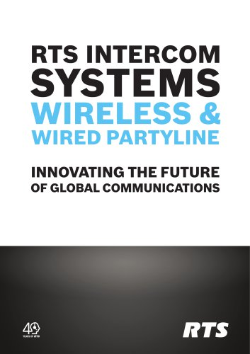 RTS Wired and Wireless Partyline