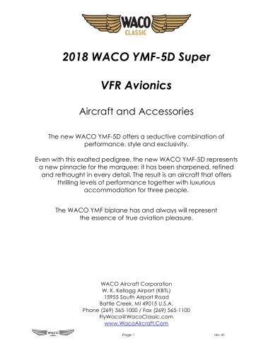 2018 WACO YMF-5D Super  VFR Avionics