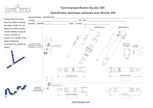 Technical specification Buckle 349