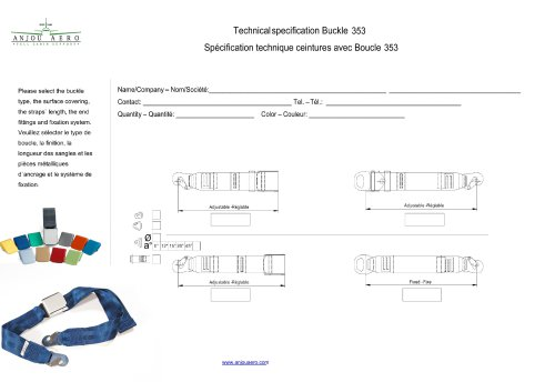Technical specification Buckle 353