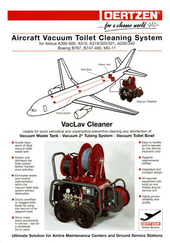 Aircraft vacuum Toilet cleaning system