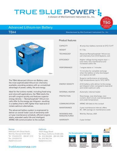 Advanced Lithium-ion Battery    TB44