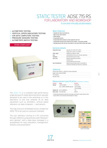 STATIC TESTER ADSE 715 RS
