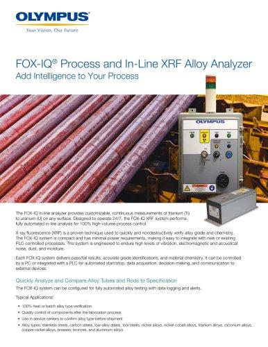 FOX-IQ Process and In-Line XRF Alloy Analyzer
