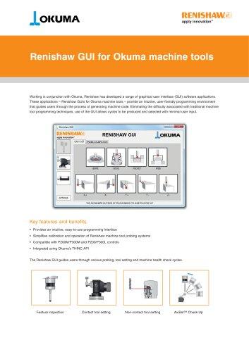 Renishaw GUI for Okuma machine tools