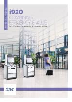 i920 SELF-SERVICE CHECK-IN & TAGGING KIOSK Combining EFFIciency & Value
