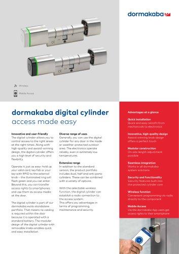 dormakaba digital cylinder