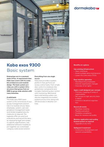 Kaba exos 9300 Basic system
