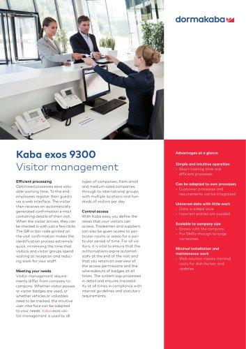 Kaba exos 9300 Visitor management