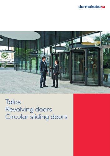 Talos Revolving doors Circular sliding doors