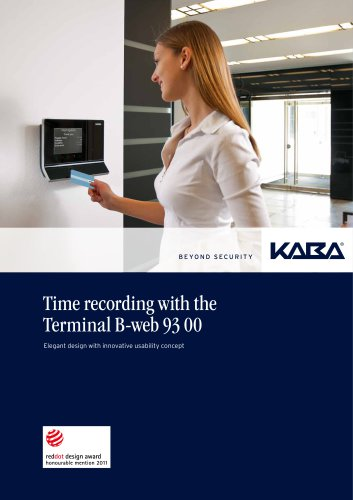 Time recording with the Terminal B-web 93 00