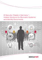 """ID Security """"Made in Germany"""" – Holistic Solutions for Biometric Systems and Identity Documents"""