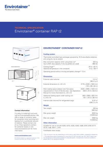 Envirotainer® container RAP t2