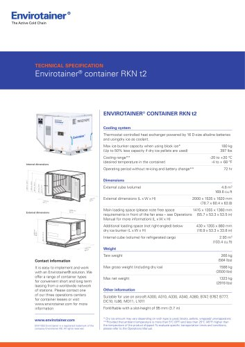 Envirotainer® container RKN t2