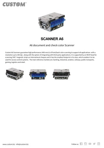 SCANNER A6