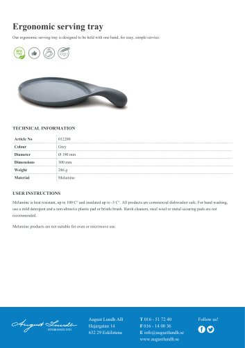 Ergonomic serving tray