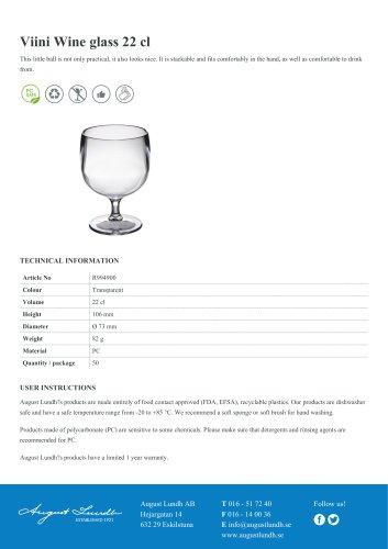 Viini Wine glass 22 cl