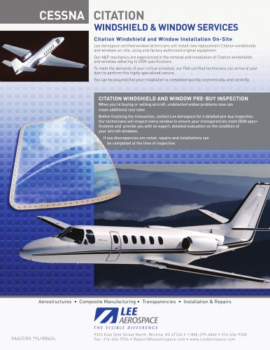 CESSNA CITATION - Lee Aerospace, Inc  - PDF Catalogs