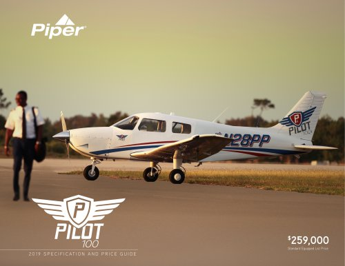 Pilot100 2019 SPECIFICATION AND PRICE GUIDE