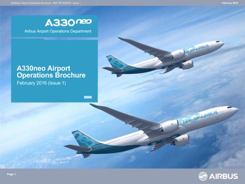 Airbus -A330 neo -AIrport operation