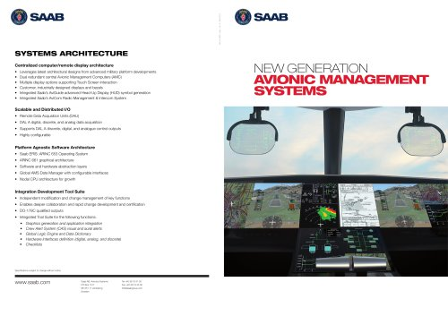 NEW GENERATION AVIONIC MANAGEMENT SYSTEMS