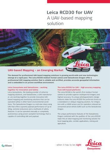Leica RCD30 for UAV Flyer