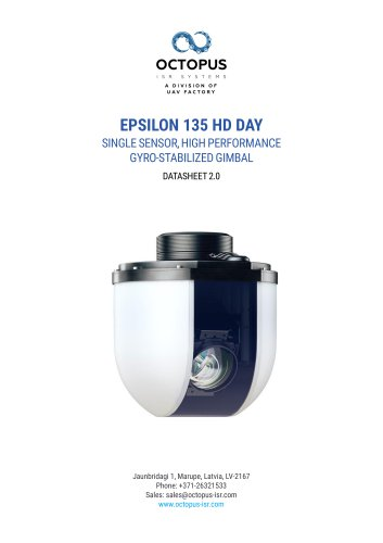 EPSILON 135 HD DAY (SINGLE SENSOR, HIGH PERFORMANCE GYRO STABILIZD GIMBAL)