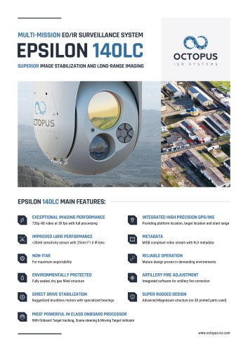 EPSILON 140LC (Lightweight and compact cost-effective dual sensor surveillance system with EO and LWIR capabilities)