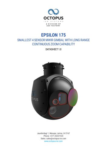 EPSILON 175 (SMALLEST 4 SENSOR MWIR GIMBAL WITH LONG RANGE CONTINUOUS ZOOM CAPABILITY)