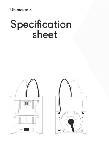 Ultimaker 3 Specifications