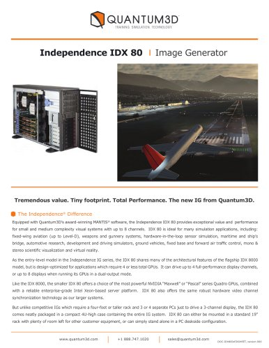 Independence IDX 80