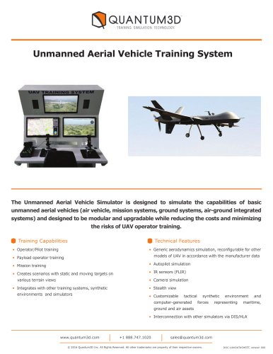 Unmanned Aerial Vehicle Training System