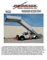 PAS200 T       Wide Body Towable Passenger Access Stair