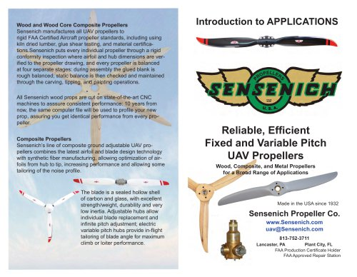 Reliable, Efficient Fixed and Variable Pitch UAV Propellers