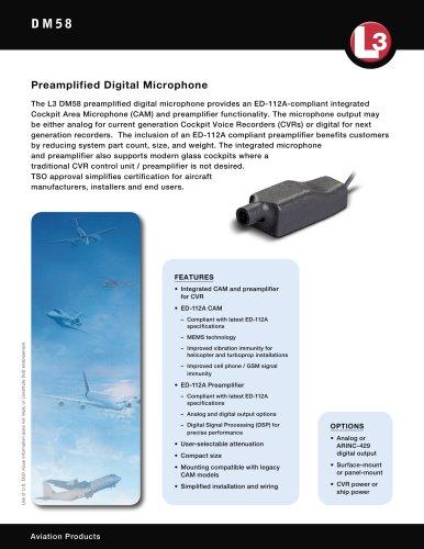 DM58 Preamplified Digital Microphone